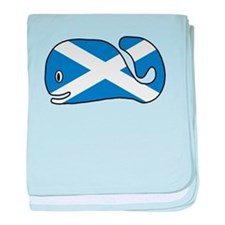 Scottish Whale baby blanket