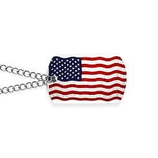 U.S Flag Dog Tags