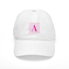 Personalizable Initial on Pink Baseball Baseball Cap