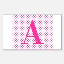 Personalizable Initial on Pink Decal