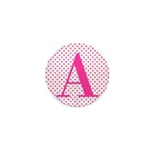 Personalizable Initial on Pink Mini Button (10 pac