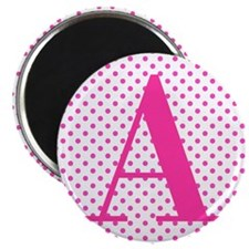 Personalizable Initial on Pink Magnets