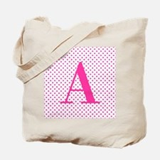 Personalizable Initial on Pink Tote Bag