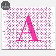 Personalizable Initial on Pink Puzzle
