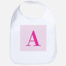 Personalizable Initial on Pink Bib