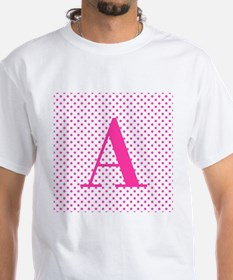 Personalizable Initial on Pink T-Shirt
