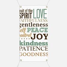 Fruit of The Spirit Galatians 5:22-23 Desig Banner