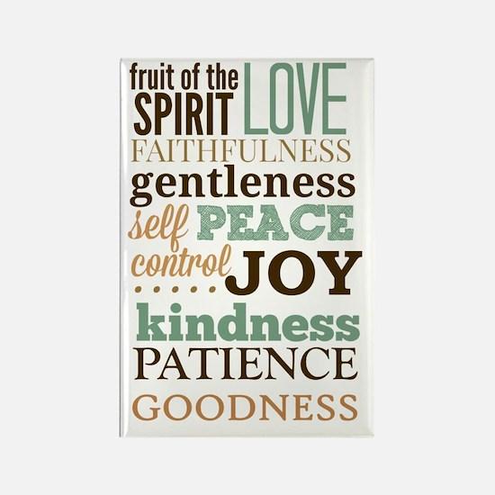 Fruit of The Spirit Galatians 5:2 Rectangle Magnet