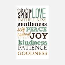 Fruit of The Spirit Galatians  Sticker (Rectangle)