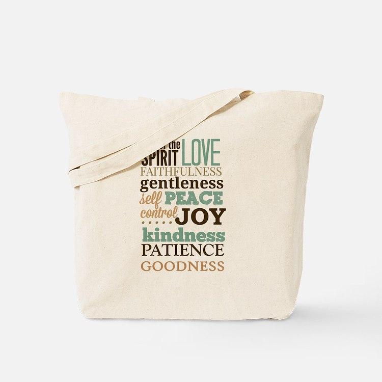 Fruit of The Spirit Galatians 5:22-23 Des Tote Bag