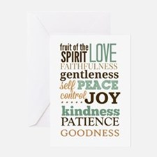 Fruit of The Spirit Galatians 5:22-2 Greeting Card