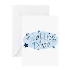 Cute I love skating Greeting Card