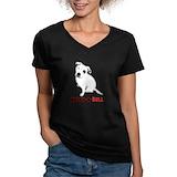 Adopt pitbull Womens V-Neck T-shirts (Dark)
