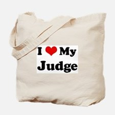 I Love Judge Tote Bag