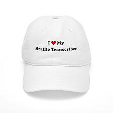 I Love Braille Transcriber Baseball Cap