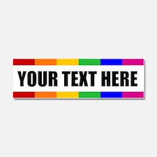 CUSTOM TEXT Rainbow Gay Pride Car Magnet 10 x 3