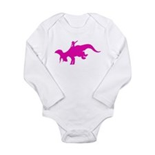 Bucking_Triceratops_pink Body Suit