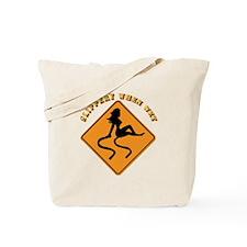Slippery When Wet - Girl Tote Bag