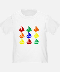 Colorful Sailboats T-Shirt