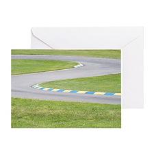 Kart Track Greeting Card