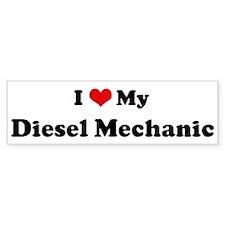 I Love Diesel Mechanic Bumper Car Sticker