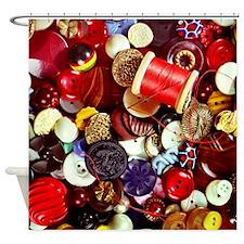 Button, Button Shower Curtain