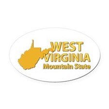 State - West Virginia - Mtn State Oval Car Magnet