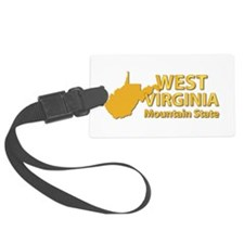 State - West Virginia - Mtn Stat Luggage Tag