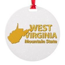 State - West Virginia - Mtn State Ornament