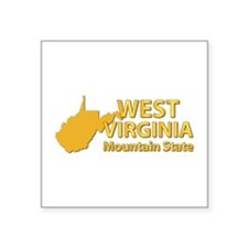 "State - West Virginia - Mtn Square Sticker 3"" x 3"""