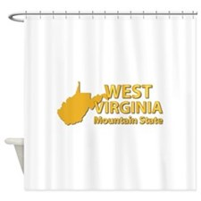 State - West Virginia - Mtn State Shower Curtain
