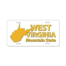 State - West Virginia - Mtn Aluminum License Plate