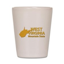 State - West Virginia - Mtn State Shot Glass