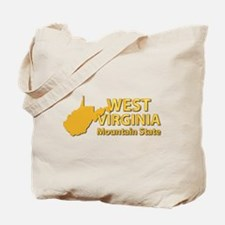 State - West Virginia - Mtn State Tote Bag