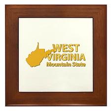 State - West Virginia - Mtn State Framed Tile