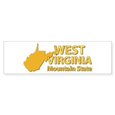 State - West Virginia - Mtn State Bumper Sticker
