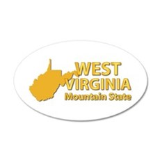 State - West Virginia - Mtn Wall Decal