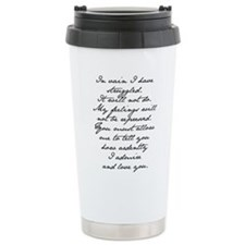 Cute Jane austen Travel Mug