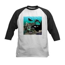 Mermaid with orca Baseball Jersey