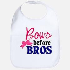 Bows Before Bros Bib