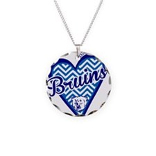 Bartlesville Bruins Chevron Heart Necklace