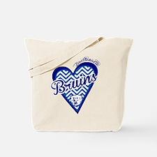 Bartlesville Bruins Chevron Heart Tote Bag