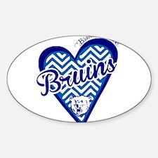 Bartlesville Bruins Chevron Heart Decal