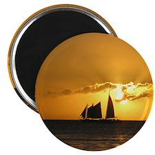 Sunset Sail Magnets