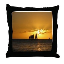 Sunset Sail Throw Pillow