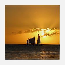 Sunset Sail Tile Coaster