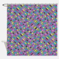 Flux Boysenberry Periwinkle Shower Curtain