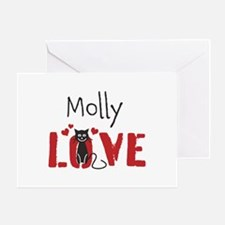 Personalize Kitty Love Greeting Cards