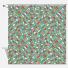 Flux Teal & Coral Shower Curtain