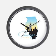 Chicago Illinois Wall Clock